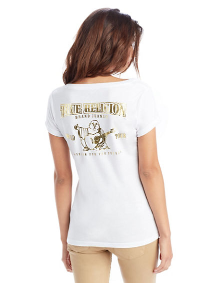 FOIL CLASSIC ROUND NECK WOMENS TEE