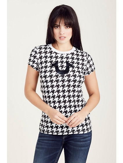 HOUNDS TOOTH WOMENS TEE
