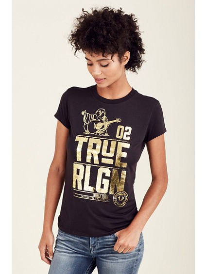 WOMENS METALLIC BUDDHA TEE