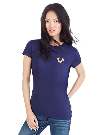 WING HORSESHOE CREW WOMENS TEE