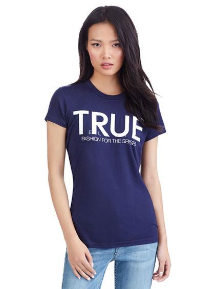 CLEAN TRUE WOMEN CREW NECK TEE