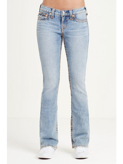BOOTCUT FLAP MULTI BIG T STITCH WOMENS JEAN