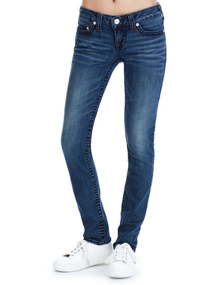 SKINNY BIG T RUBY RED WOMENS JEAN