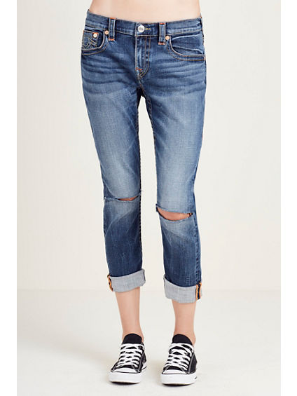 BOYFRIEND KNEE SLIT WOMENS JEAN