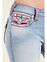 CURVY SKINNY BIG T FLAP WOMENS JEAN