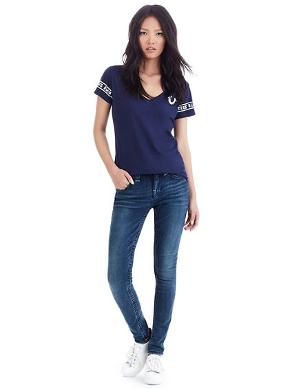 SUPER SKINNY BIG T GOLD WOMENS JEAN