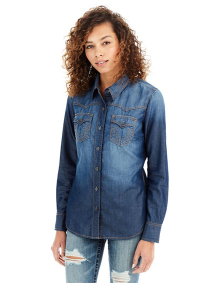 FOSSIL DENIM WOMENS SHIRT