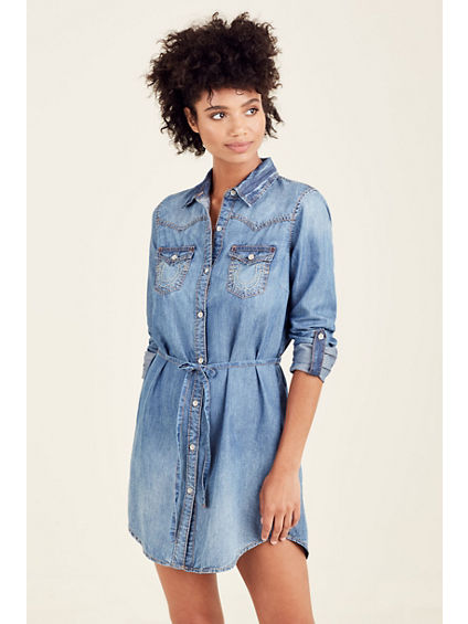 JESSICA WOMENS SHIRT DRESS