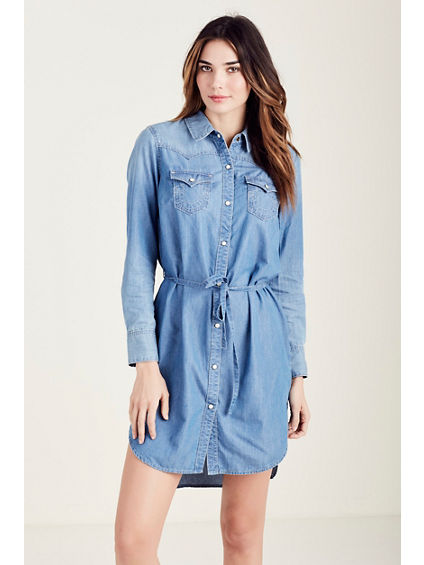 DENIM WOMENS SHIRT DRESS