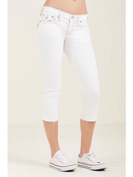 CAPRI FLAP RAW HEM WOMENS JEAN
