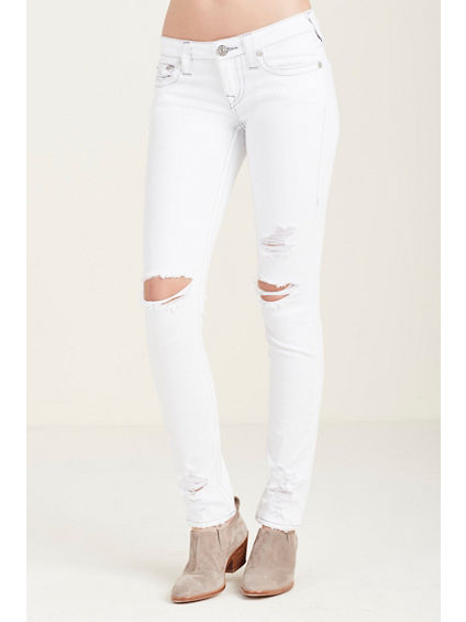 SKINNY WHITE RIPPED WOMENS JEAN
