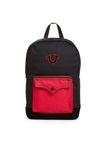 MONOGRAM BIG T W/ FLAP MENS BACKPACK