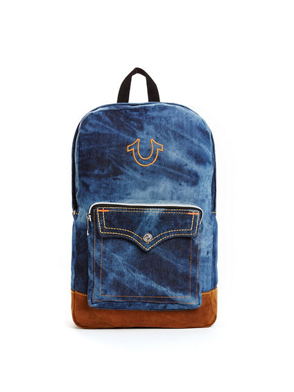 MENS INDIGO BIG T BACKPACK