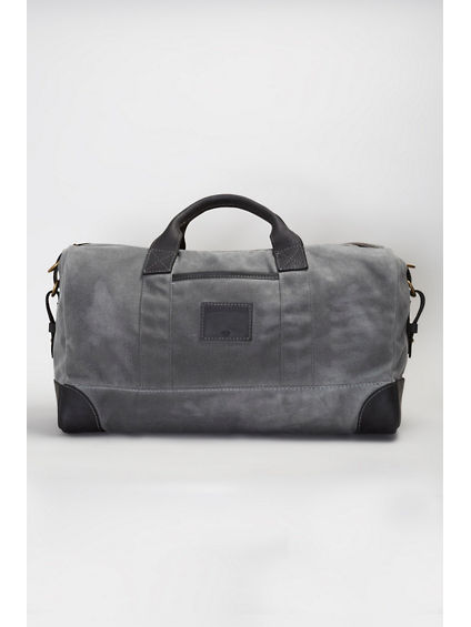 COATED CANVAS DUFFLE BAG