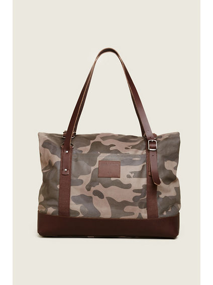 CAMO FOLD OVER DUFFLE BAG