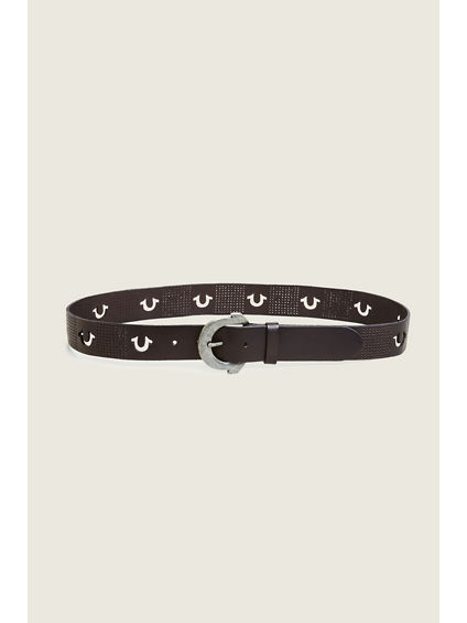 PERFORATED HORSESHOE MENS BELT