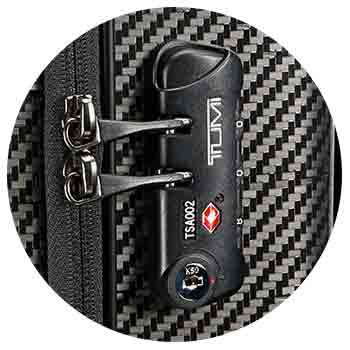 how to set a new tumi luggage lock