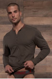 C-IN2® Pop Color Long-Sleeve Henley