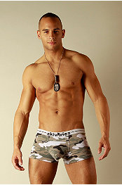 Skivvies Commando Camo Boxer Brief