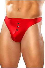 Male Power® Nylon Spandex E-Z Access Botton Thong