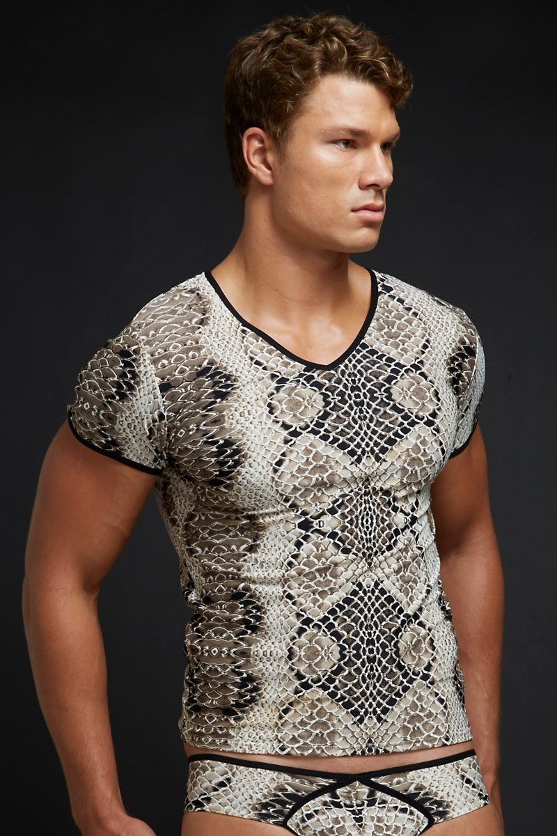 Snake Shirt Snake Print Mens T-shirt |