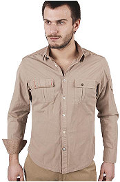 Rnt23 Jeans Corduroy Patch Shirt