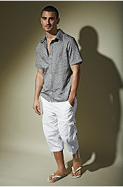 P.O.V.® Macau Shirt Cross Cyed Window Pane & Xray® Private Short