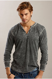 YMLA® Burnout Thermal Longsleeve Henley