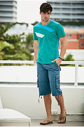 SMASH® SEA SHORE S/S TEE & SEDUKA® CARGO SHORT