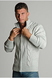 Exuma Cable Zip Sweater