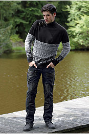 ANDRES VELASCO® TRIBECA SWEATER & P.O.V.® TWILIGHT JEAN