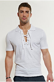 Torino Lace-Up Polo