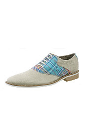 Giorgio Brutini® Natural Canvas/Plaid Oxford