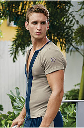 Body Tech®	 Zip-Front Tee