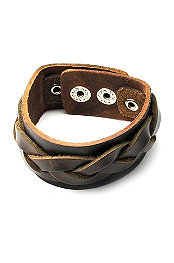 Freestyle® Leather Braid Cuff