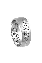 Freestyle® Stainless Steel Tribal Curving Ring
