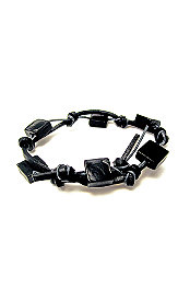 Rave® Retro B**Ch Glass Beads Leather Bracelet