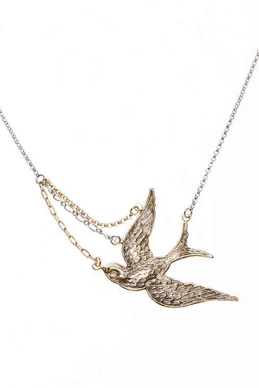 UrbanOutfitters.com > Asymmetrical Free Bird Necklace