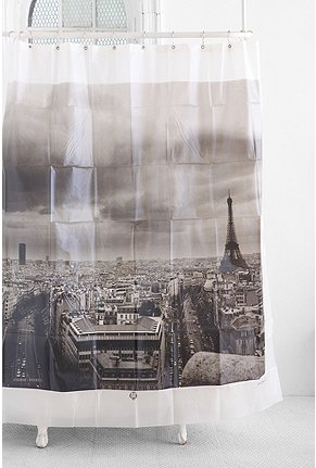 UrbanOutfitters.com > Paris Shower Curtain :  eiffel shower curtain urbanoutfitters