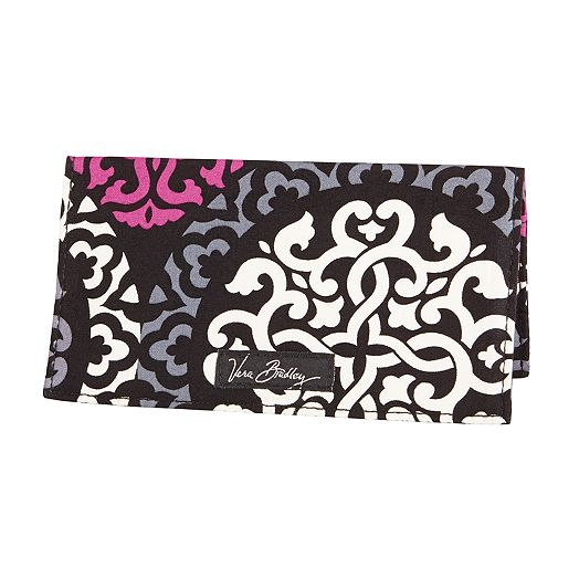 Checkbook Cover in Canterberry Magenta