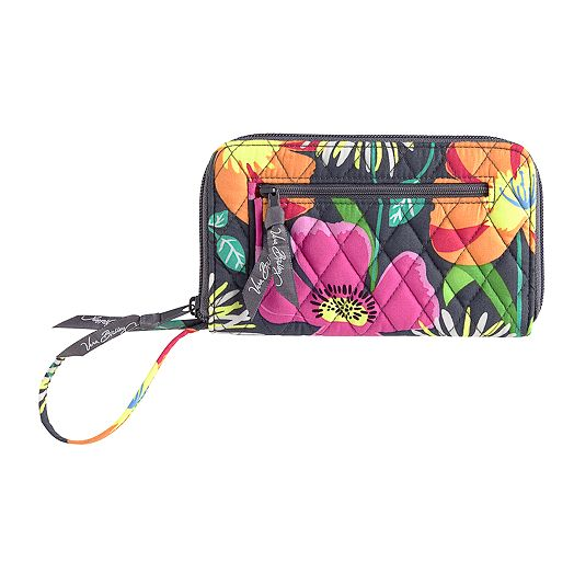 Zip-Around Wallet in Jazzy Blooms