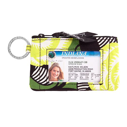 Zip ID Case in La Neon Rose