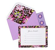 Invitations in Purple Punch