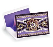 Laser Cut Note Cards in Simply Violet