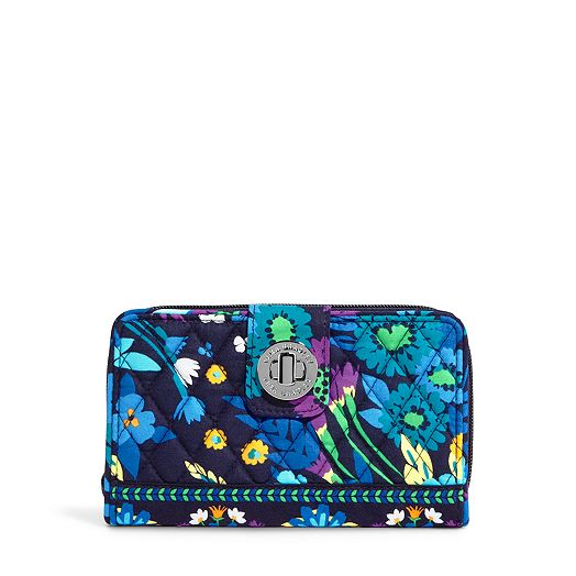 Turn Lock Wallet in Midnight Blues