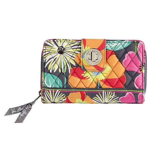 Turn Lock Wallet in Jazzy Blooms