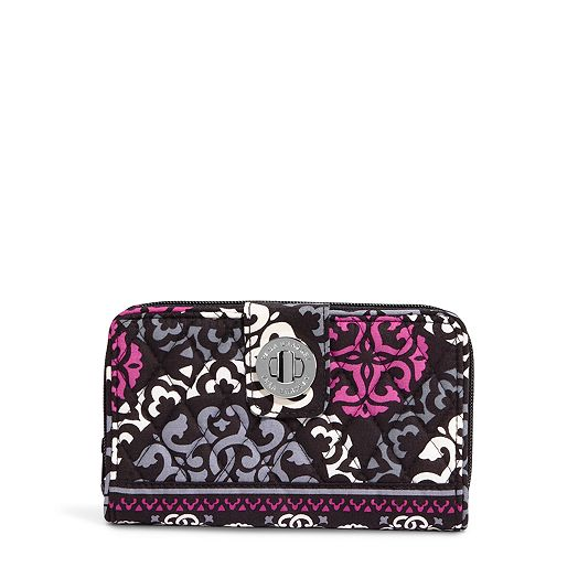 Turn Lock Wallet in Canterberry Magenta