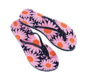 Printed Flip Flops in Loves Me