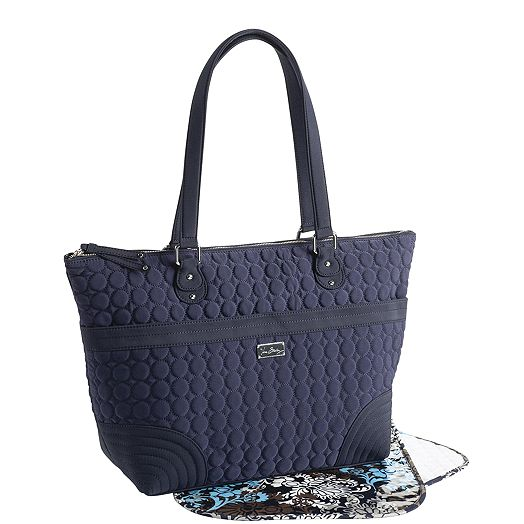Baby Bag in Navy Microfiber