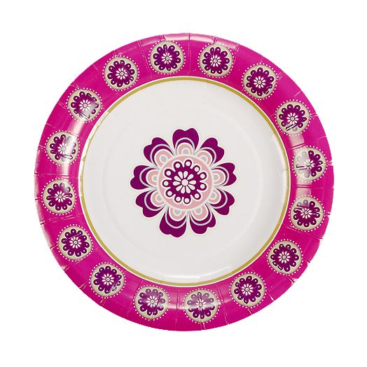 Cocktail Plates in Very Berry Paisley